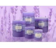 شموع دائرية lavender spring